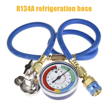 Auto A/C R134A Refrigerant Recharger Hose Low Pressure Gauge Car Air Conditioning DAG-ship car air conditioning refrigeration pressure diagnostic gauge tool a c compression detect tester garage tools r134a at2217