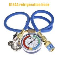Auto A/C R134A Refrigerant Recharger Hose Low Pressure Gauge Car Air Conditioning DAG-ship 1pcs r410a r22 r134a refrigerant high low pressure gauge 1 4 auto car air conditioning refrigerant pressure gauge tool