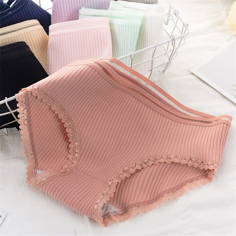 10 Colors   Panties   for women cotton underwear ladies lace sexy lingerie female casual underpants gril briefs   panty   wholesale 2019