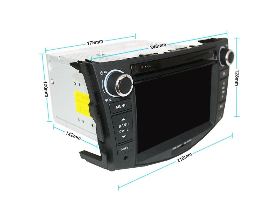 Best Eunavi Car DVD Player 2Din Car Radio For Toyota RAV4 2006 2007 2008 2009 2010 Steering Wheel control Touch screen GPS Navigation 18