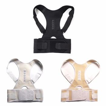 Męski żeński regulowany magnetyczny postawy korektor gorset powrót Brace tylny pasek lędźwiowy wsparcie Straight Corrector de espalda S-XXL