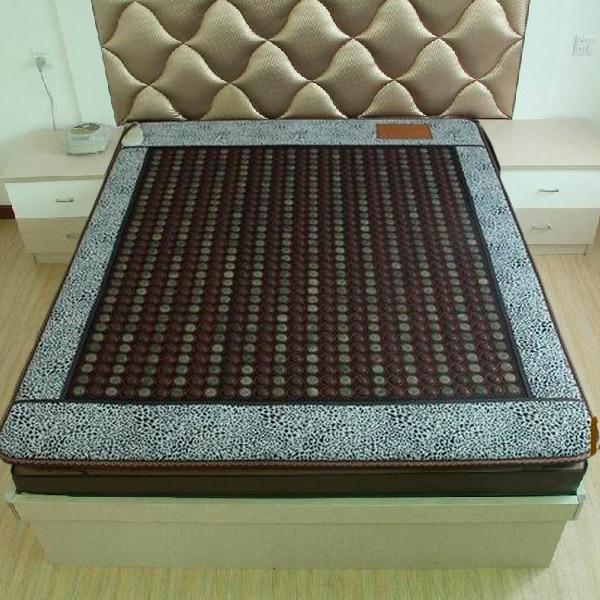 Wholesale 2016 Infrared Heated Negative Ion Massage mattress Korea Jade Mattress Heating Korea Tourmaline Mattress 1.2*1.9M free shipping tourmaline korea health jade mattress negative ion jade heated mattress for sale 1 2x1 9m