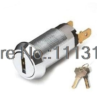 High Security Flat Brass key Switch Lock for game cash machine 19MM OFF/ON Electronic Power Lock for Vending Machine 5 PCS