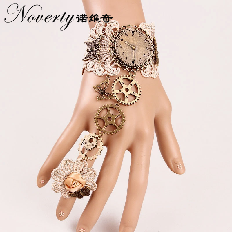 Fashion Retro Gothic Mechanical Gears Imitation Watch Bracelet Women's Fashion Jewelry Halloween Gifts FYSL009