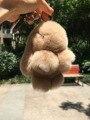 Свет Верблюда Pom pom Кролика Сумочка шарм брелок Кролика брелок Хаки мех cham Автомобилей Брелки Рюкзак Кошелек Подвески