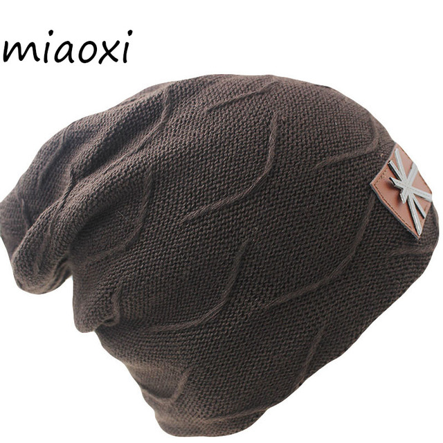 f088575fb0a miaoxi Fashion New Casual Unisex Adult Winter Warm Women Hat Caps Knitting  Flag Snow Cap Male