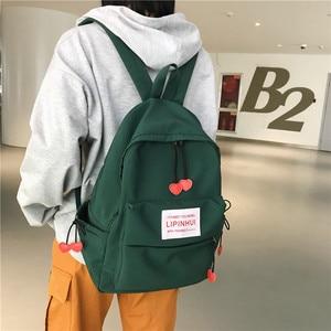 Image 3 - DCIMOR New Waterproof Nylon Backpack for women Heart Drawstring Travel Bag Teenage Girls Schoolbag Women backpack Preppy Mochila