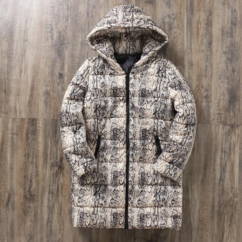 Leopard Snake Pattern Autumn Women s Winter Jackets Coats 2019 Casual Sexy Parkas Women Jackets Warm