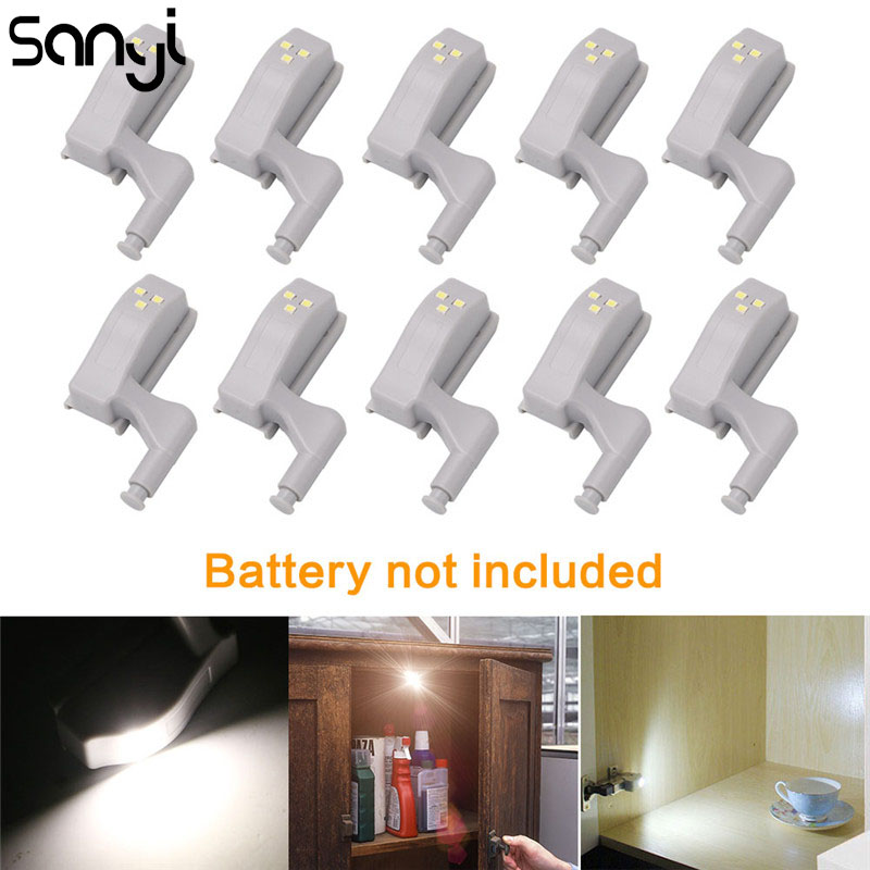 SANYI 10 Pcs Universal Kitchen Bedroom Living Room Cabinet Cupboard Closet Wardrobe Inner Furniture Hinges 3 LED Night Light