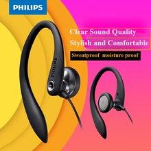 100% Original PHILIPS SHS3305 หูฟังชุดหูฟังชนิดแขวนหูหูฟังกีฬาสนับสนุนสมาร์ทโฟนสำหรับ Samsung Xiaomi