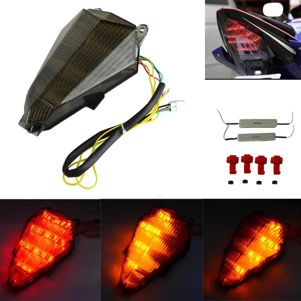 RJ15 2008-2015 Smoked LED tail light lamp Yamaha YZF R6