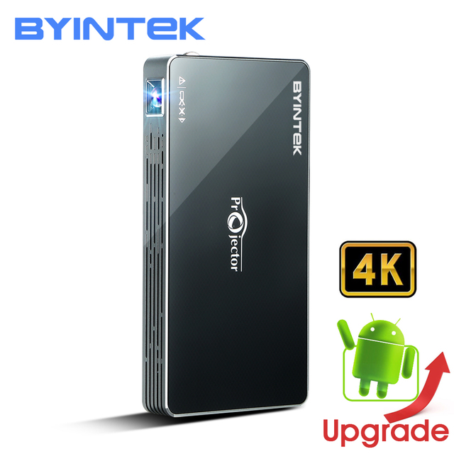 New Price BYINTEK UFO MD322 Portable Smart Home Theater Pocket Android 7.1.2 OS Wifi Mini HD LED Projector For Full HD1080P MAX 4K HDMI