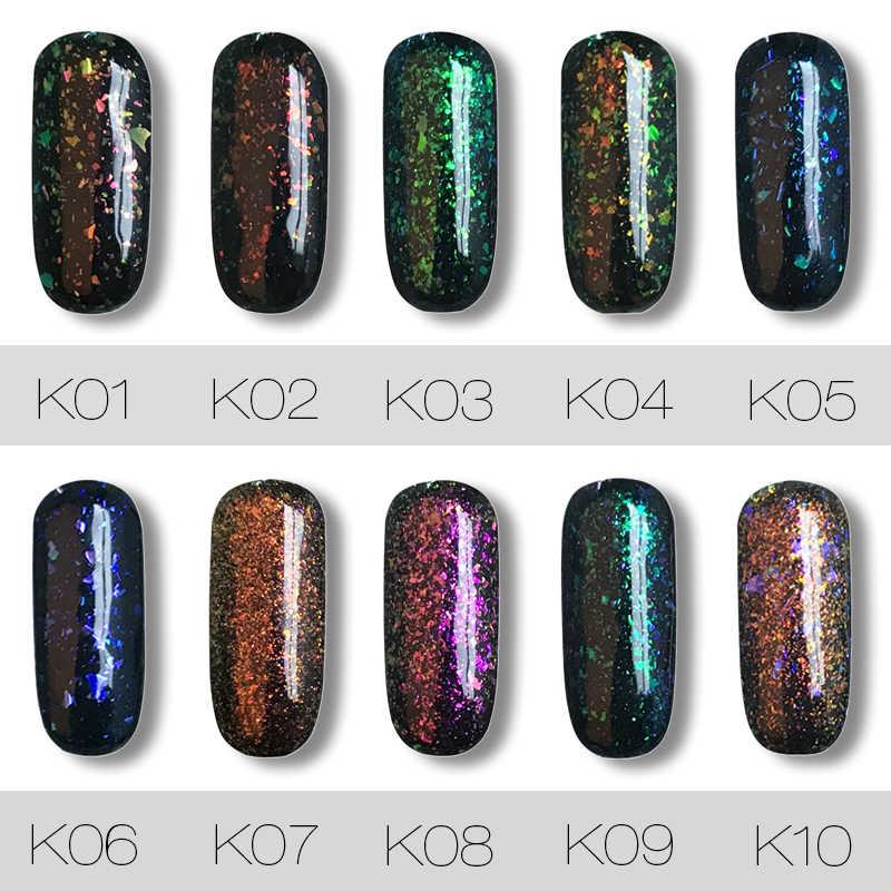 Rosalind Gel 1S 7ML Shiny Galaxy Nail Polish Needed Black Nail Glitter Semi  Permanent Gel Polish Lacquer Varnish