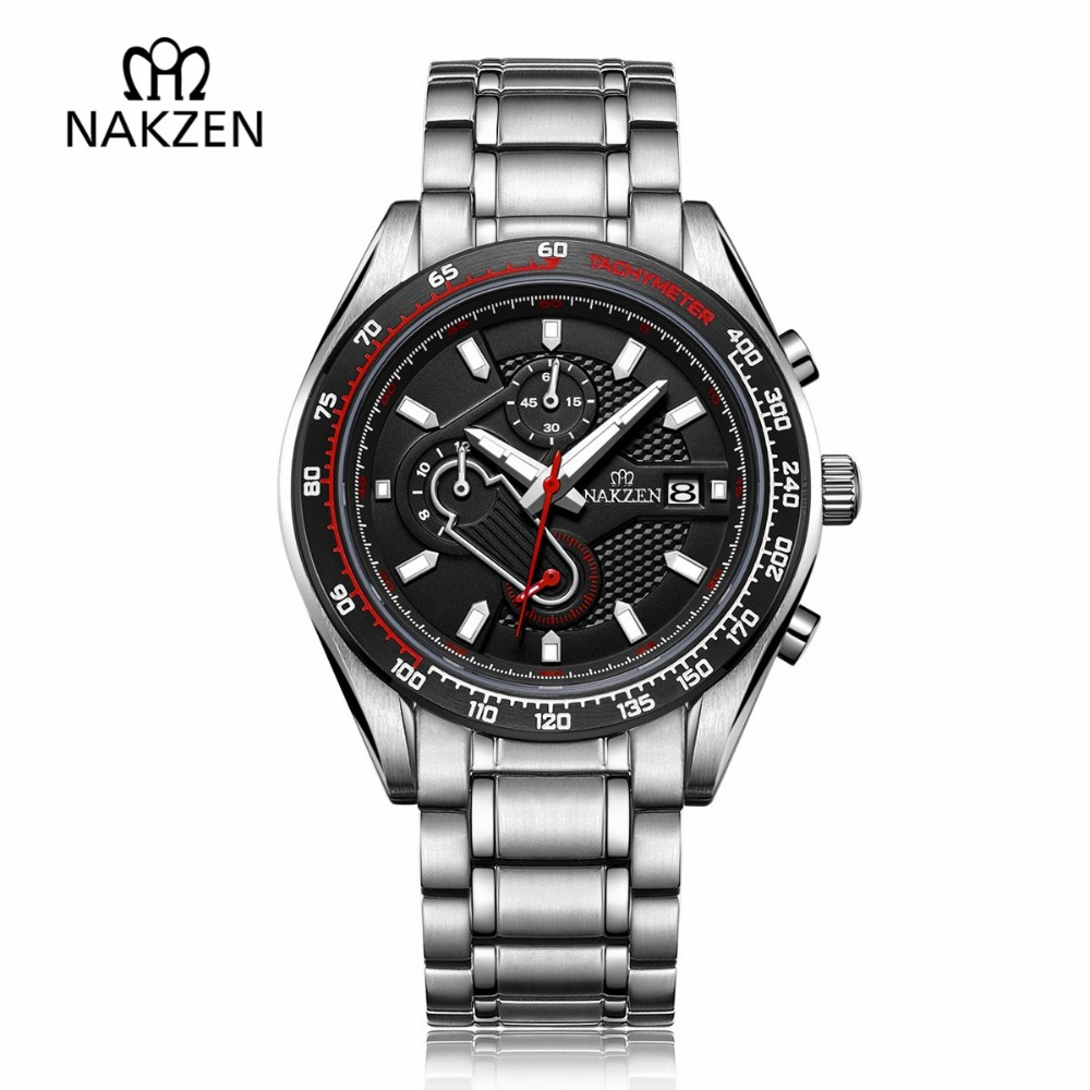 NAKZEN Man Sports Multifunction Luminous Diving Watch Men Quartz Watches Waterproof Composite Dial WristWatch Relogio Masculino 2017 nitecore five colours primary infrared light ci6 hunting kit gear hunting law enforcement militar flashlight lantern boxset