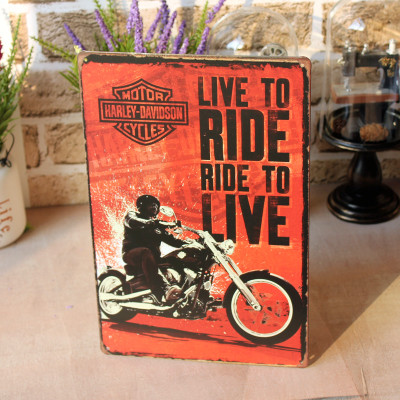 3aa5367a49ae1 20 30CM   Mike86   Live to RIDE Motor Tin Signs Vintage House Cafe  Restaurant