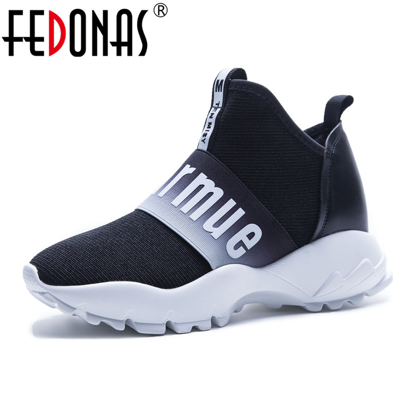 FEDONAS Brand Women Shoes 2018 Mesh High Quality Casual Shoes Woman Flats Ladies Sport Sneakers Breathable Platforms Shoes women shoes 2018 summer breathable mesh shoes fashion flats hot sales women footwear high quality lace up mesh casual shoes