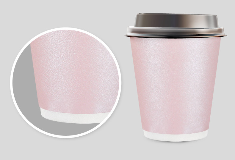 Free Shipping 30pcs Foil Pink PAPER CUPS Ice Cream Party Cups Drinking Serving and Dining Table ware Metallic Pink Cup