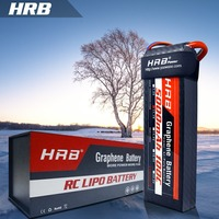 HRB Graphene Battery 11.1V 5000mAh 100C Max rate 200C 3S RC LiPo Battery For RC Helicopter Boat Traxxas Car with 1 8s tester