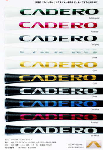 NEW 9x Crystal Standard CADERO 2X2 AIR NER Golf Grips 10 Colors Available Transparent Club Grip