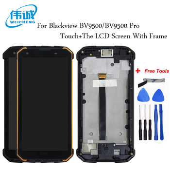 WEICHENG For Blackview BV9500 LCD Display and Touch Screen With Frame Digitizer Replacement  For Blackview BV9500 Pro+Free Tools