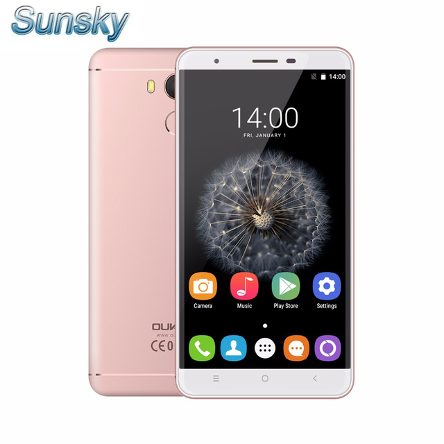 Original Oukitel U15 PRO 5.5inch 2.5D HD Android 6.0 3GB 32GB MTK6753 Octa Core 1.3GHz OTG 16.0MP Fingerprint 4G Mobile Phone
