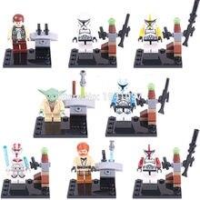 XINH 019-026 Building Blocks Super Heroes Star Wars Minifigures Yoda Han Solo Obi Wan Toys For Children Decool Compatible