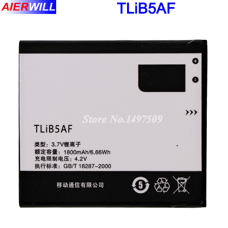 1800 mah TLiB5AF Batterie Für Alcatel One Touch Pop C5 OT 5036 5036D 5037 5037D 5037A 5037X