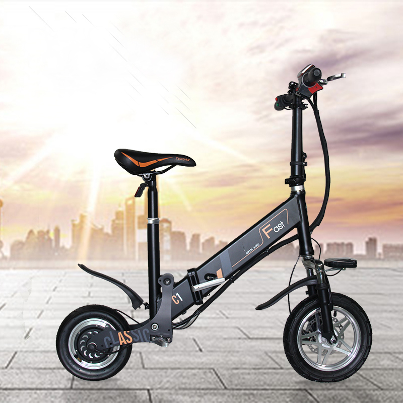 Folding Electric font b Bike b font Electric Bicycle Blectric New Type Of Mini Adult Motorcycles