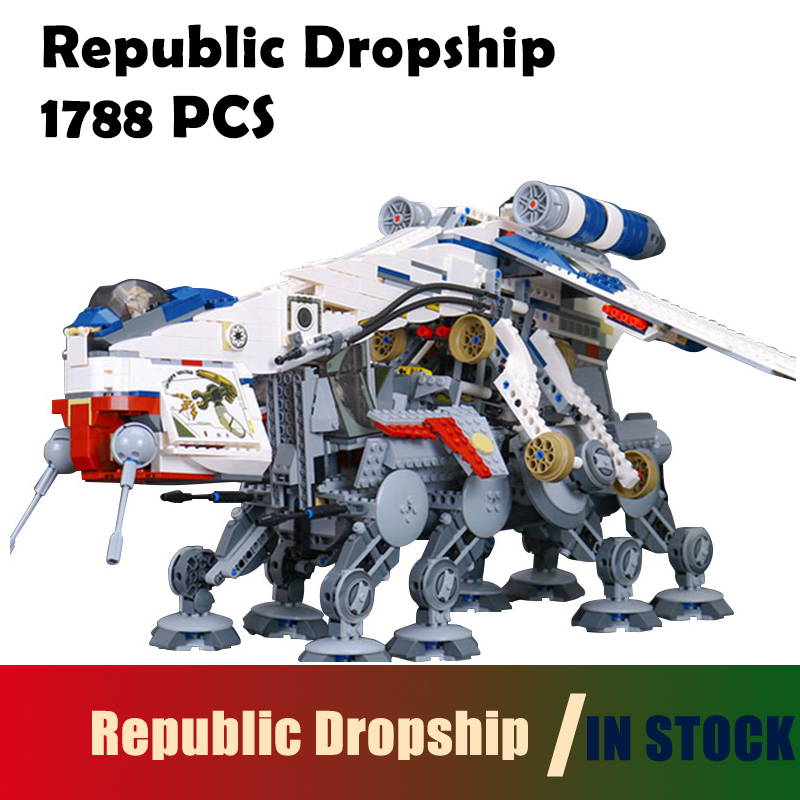 Compatible with lego Mode Building Blocks 05053 Star Series Wars The Republic Dropship assembled 10195 toys for children lepin 02012 city deepwater exploration vessel 60095 building blocks policeman toys children compatible with lego gift kid sets