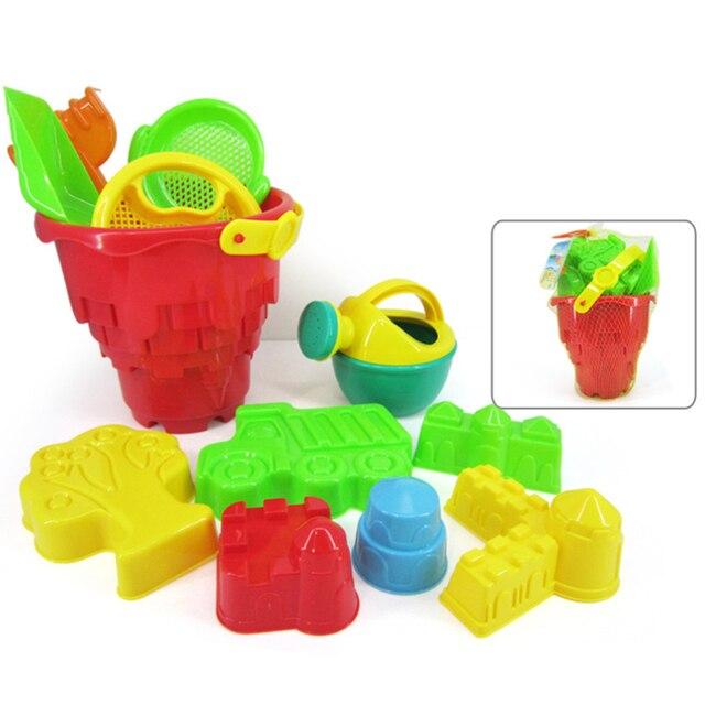 12 Unidades de la Playa de Arena Conjunto de Juguete con Bolsa De Malla para Los Niños-Color Al Azar