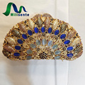 Milisente Shell Shape Crystal Clutch Designer Diamond Bag Luxury Handbag Women Clutches Gold Wedding Bags With Chain Party Purse
