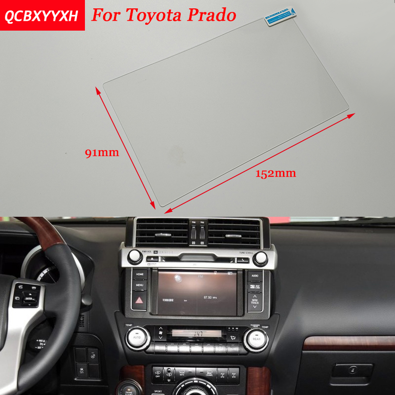 Car Sticker 7 Inch GPS Navigation Screen Steel Protective Film For Toyota Prado Control of LCD Screen Car Styling 7 inch gps lcd screen e navigation luhang x10 x9 display screen portable navigator in screen