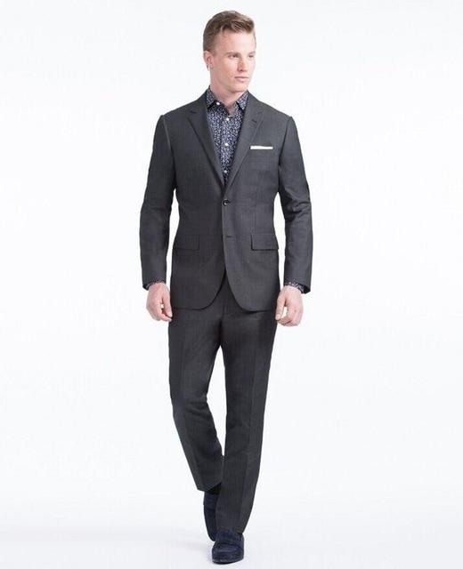 2017 Nueva Llegada de Los Hombres de Negocios Formales Trajes de Partido Por Encargo Trajes de Boda Novio Clásico Traje (chaqueta + Pantalones) para Los Hombres de Esmoquin