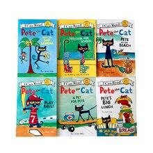 6 stks/set Boeken Eerste IK Kan Lezen Pete de Kat Kids Klassieke Verhaal Boeken Kinderen Vroeg Educaction Engels Korte Verhalen lezen