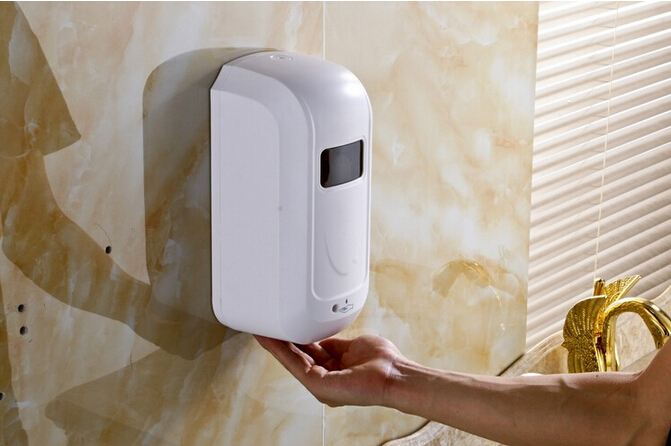 1000ml Automatic Sensor Soap Dispenser Wall Mounted ABS Touch-free Sanitizer Dispenser Hotel or School Soap Dispenser Bathroom wall mounted elbow hand sanitizer soap dispenser used in hospital for holder