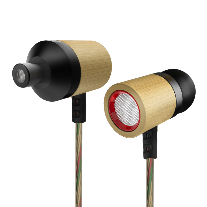 Original KZ ED7 Bamboo In-Ear High Quality Earphone Wired Headset Bracelet Bass Stereo Headset For Mobile Phone For MP3 MP4