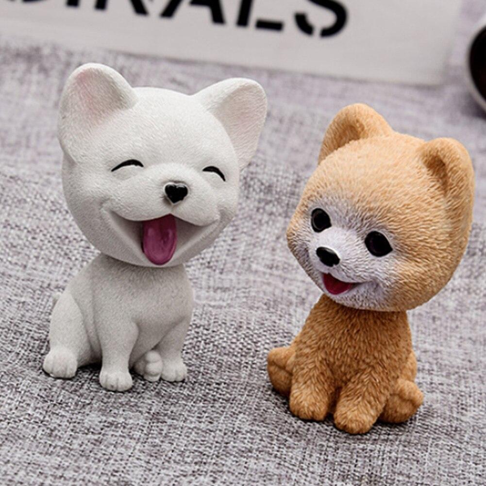 Bulldog FancyU Car Nodding Dog Doll Cane sveglio che agita Bobble Head Dogs Puppy Car Interior Cruscotto Decorazione Cute Dog Ornamenti Regali creativi per auto e Home Desk Docoration
