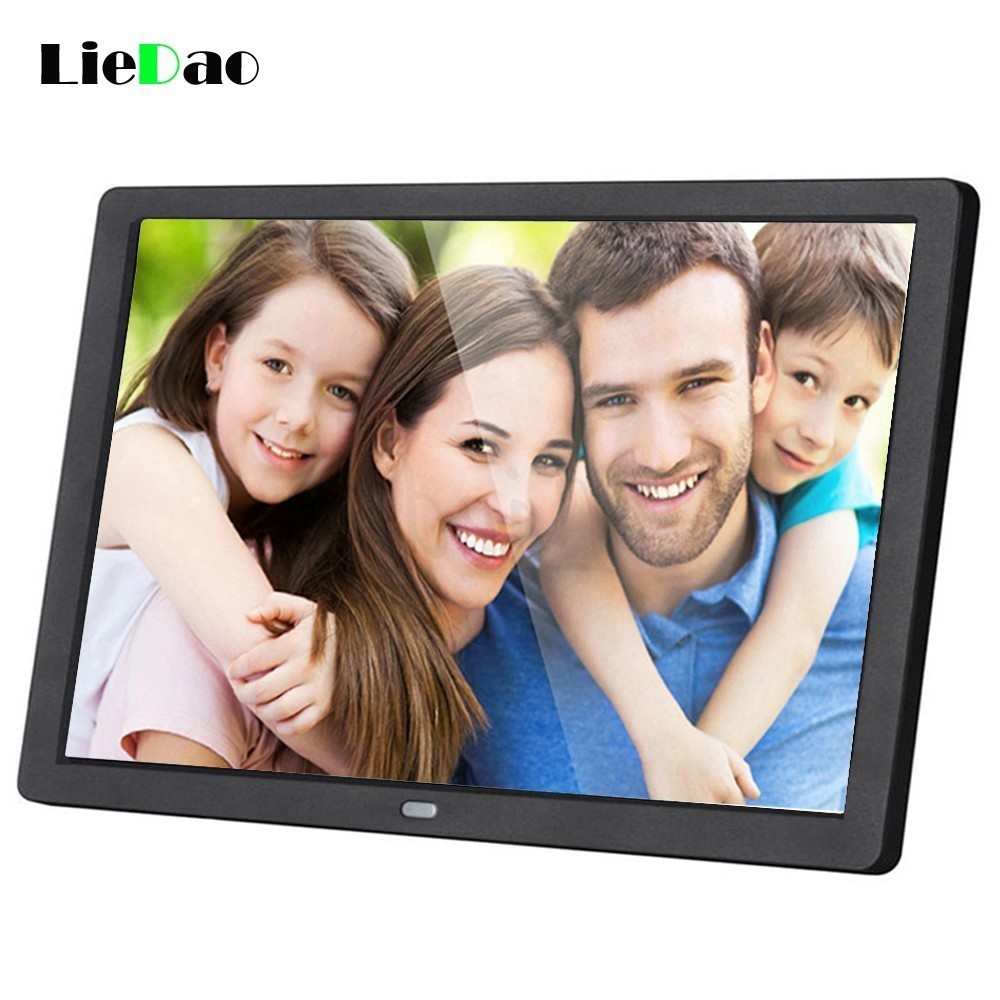 LieDao 15 Inch LED Digital Photo Frame Backlight HD 1280*800 Electronic Album Full Function Photo Music Video Good Gift 10 inch tft screen led backlight hd digital photo frame electronic album full function photo music video good gift