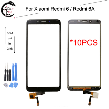 10PCS Touch Panel For Xiaomi Redmi 6 6A Digitizer Screen Glass Touch Redmi6A With FPC Flex Cable Redmi6 Sensor Touch Touchscreen
