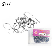 100pcs/box Circle Fishing Hooks High Carbon Steel Barbed Fishhooks #3-#12 Carp Accessories Tackle On Sale