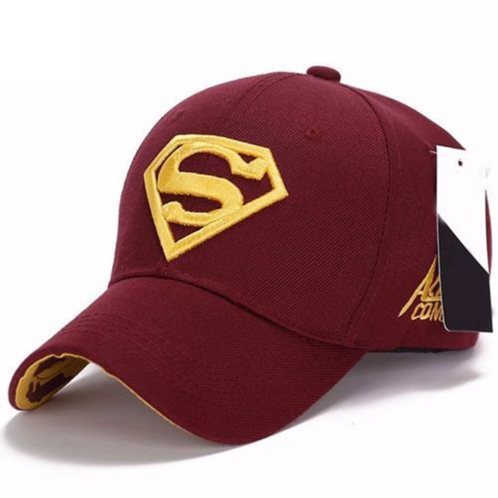 Baseball Sports Caps Snapback Adjustable Fit Tennis Cap Hat Superman Pattern Peaked Caps Casquette Hip Hop Stretch Hat