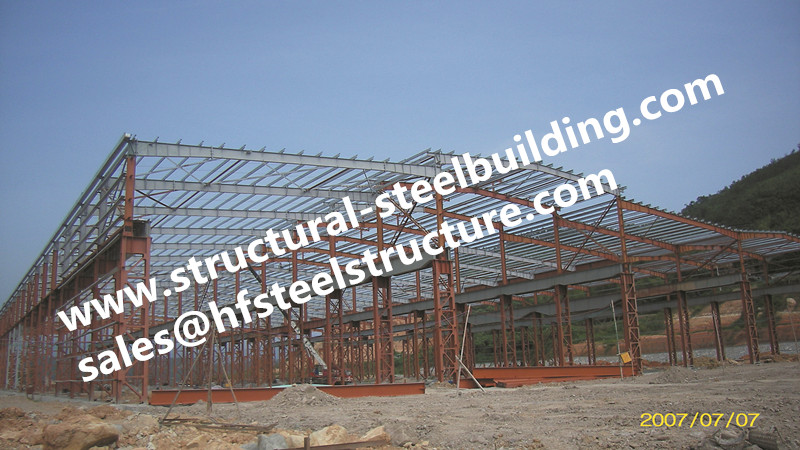 China Fabricated Steel Structures,stairs,roofing For Structural Steel Warehouse Construction Project