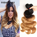 Annabelle Hair 1B 27 Peruvian Body Wave 3 Bundles 10A Grade Ombre Peruvian Virgin Human Hair cosplay Weave Body Wave Bundles