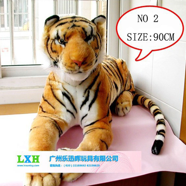 Stuffed Plush Toys Simulation Animal Tiger 90cm Kids Toys For Girls 8 Years Old Children Plush Story Toys Large Soft Toy Gift