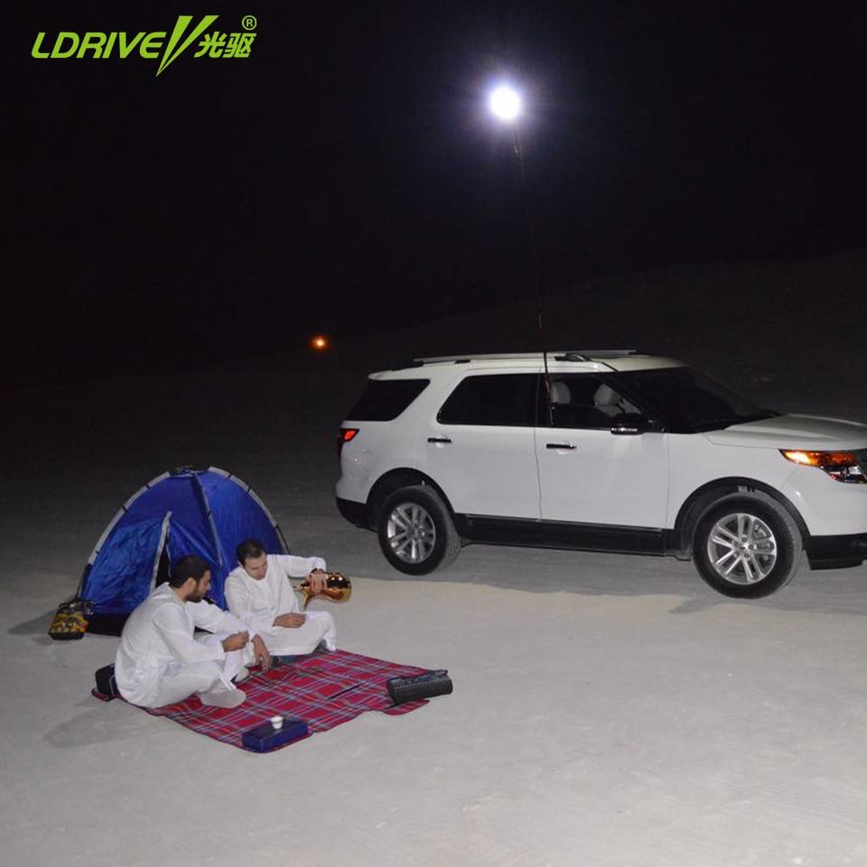 Высокая Яркость автомобиль на открытом воздухе кемпинга фонарь свет лампы стайлинг автомобиля СИД 12V телескопическая Ночной рыбалки поездку с РФ контроллер