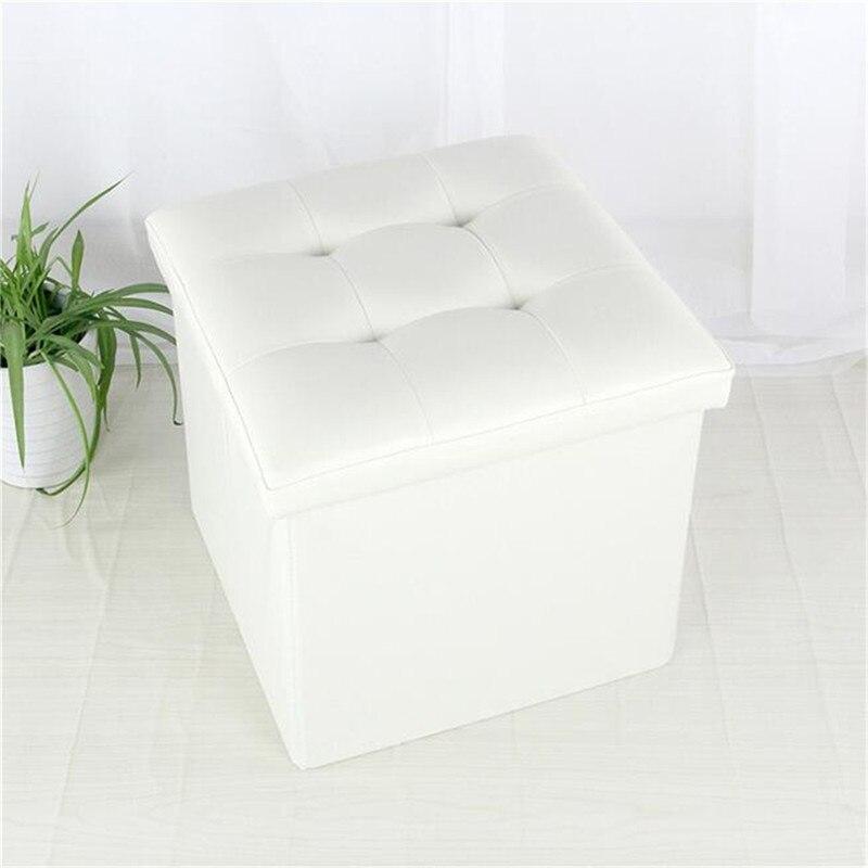 Otomana plegable manta de almacenamiento caja organizador taburete ...