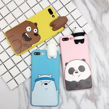 3D Cartoon Cute Back Minnie Mickey Daisy Duck Winnie Bear Panda Soft Silicone Phone Cases Cover For iPhone 6 6S Plus 7 7 Plus