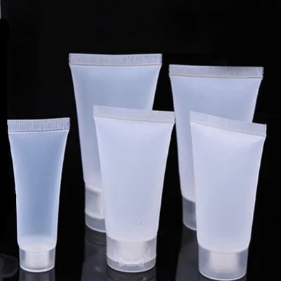 50pcs/lot 5ml 10ml 15ml 20ml 30ml 50ml 100ml Clear Plastic Soft Tubes Empty Cosmetic Cream Emulsion Lotion Packaging Containers