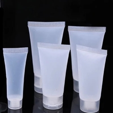 Tubos macios de plástico transparentes, 50 pçs/lote 5ml 10ml 15ml 20ml 30ml 50ml 100ml recipientes de embalagem de loção de emulsão de creme cosmético vazio
