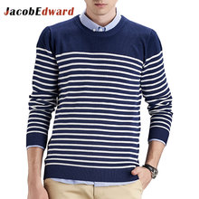 Business Office Men's Sweater 100% Cotton Male Pullover 2016 Winter New Long Sleeve Slim Fit Casual Christmas Sweater Men